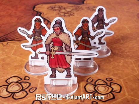 Warrior Maidens NPC Miniatures
