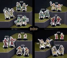 Gender-Variant Fantasy RPG Miniatures Set