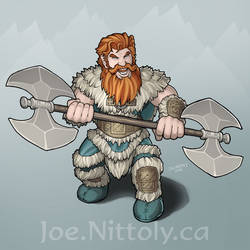 Orick, Dwarf Barbarian by Pasiphilo