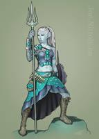 Anryn, Triton Barbarian (Commission) by Pasiphilo