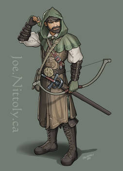 Esaro, Human Rogue (commission)