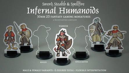 Infernal Humanoids 2D 30mm Minis Kickstarter