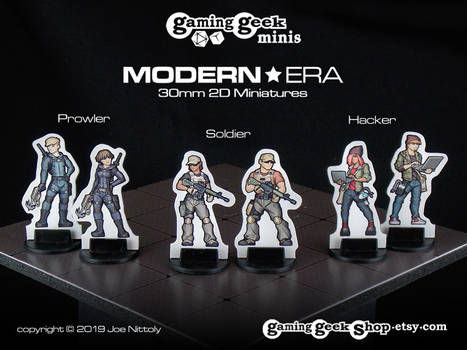 Soldier, Prowler, Hacker - Modern Minis Set #1