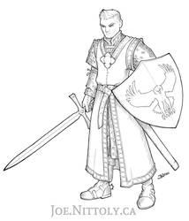 Silas, Human Paladin (Commission)