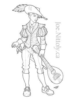 Chamomile, Half-Elf Bard (Commission)