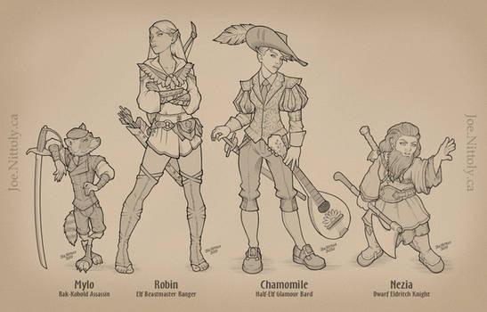 Mylo, Robin, Chamomile, Nezia Ensemble