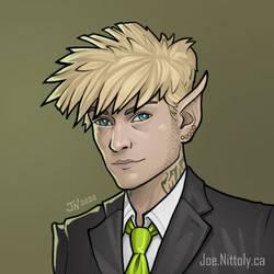 Elf Shadowrun NPC (Commission)
