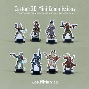 Custom 2D 30mm Mini Commissions