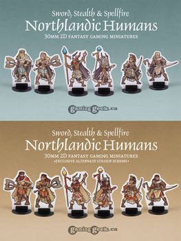 Northlandic Humans 2D 30mm Miniatures