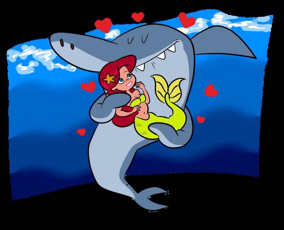 Sharko loves marina by dynastisgoopis on deviantart for Zig e sharko