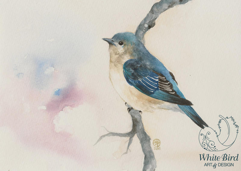 Little Blue Bird by toujin
