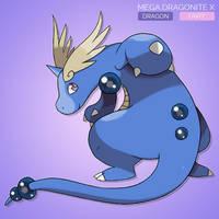 Concept - Mega Dragonite X by sunei-pokemon
