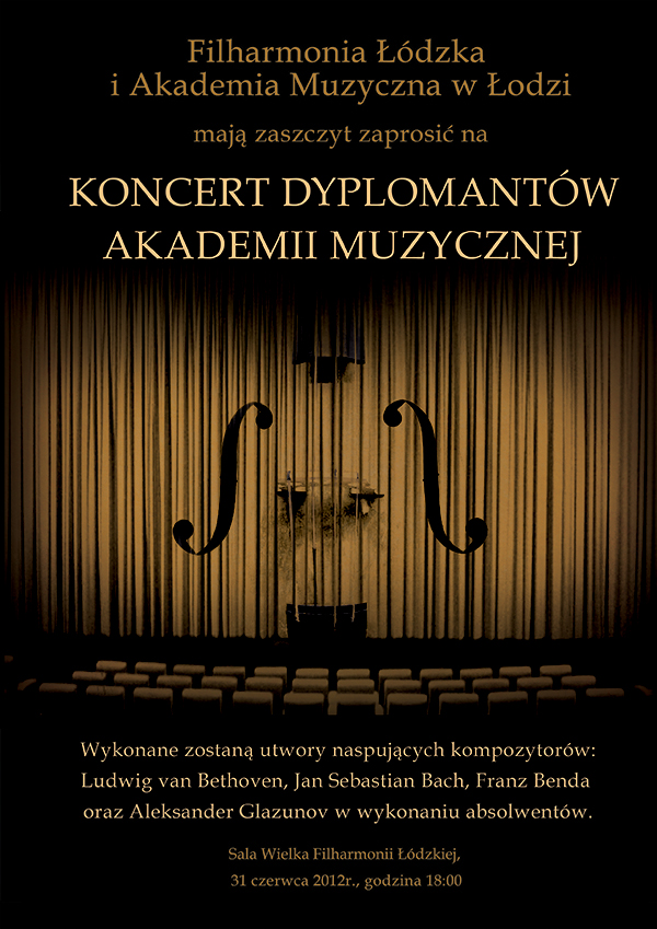 Classical Music Concert Poster By Benegeserit
