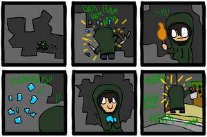 Minecraft Comic 1 by Hraugur
