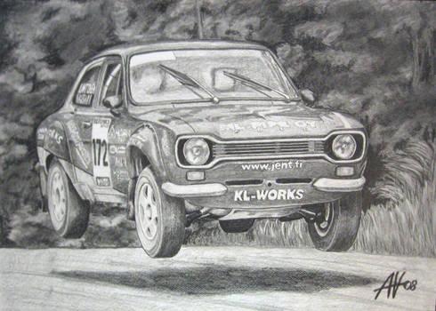 Rally Car Ford Escort