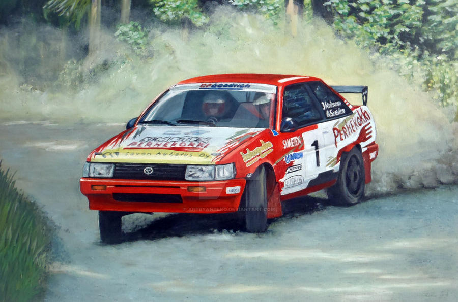 Toyota Corolla rally car by Artbyantero on DeviantArt