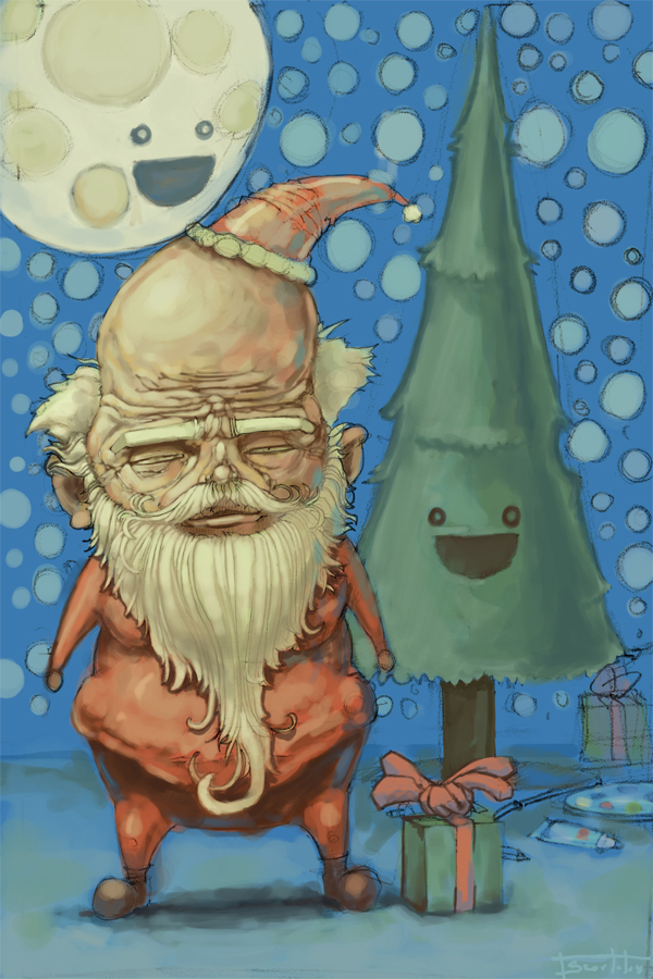 Grumpy Santa by Sakx