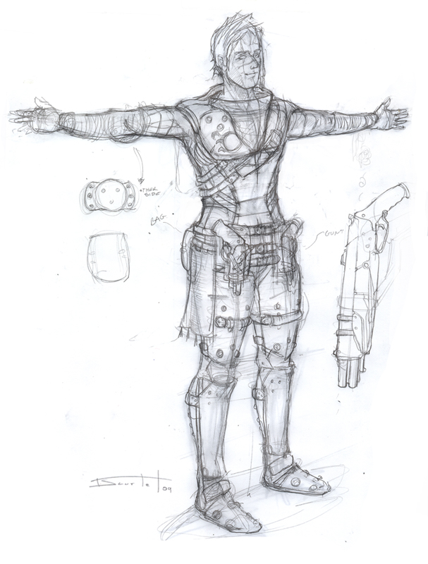 Bounty Hunter concept sketch by Sakx