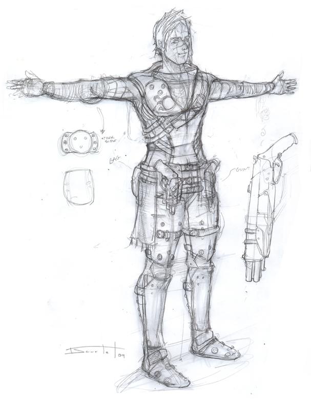 Bounty Hunter concept sketch by Sakx