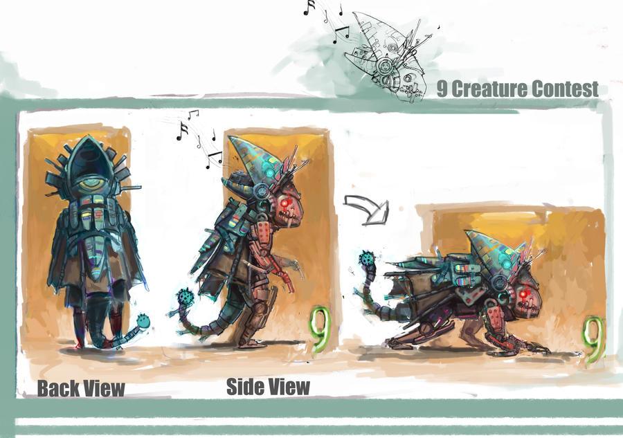9 creature design by Sakx