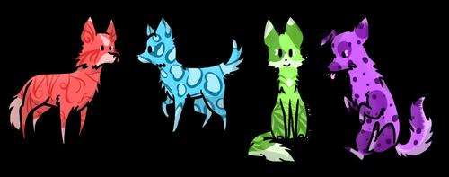 Dog/Wolf Adoptables -Open- by RoxyAbsinthe
