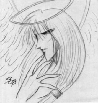 Gabriel Gazes to Hell -sketch- by jealousofrouge