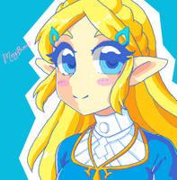 :Zelda: BotW by MeguBunnii