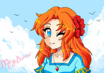 :Marin: MSPaint with mouse by MeguBunnii