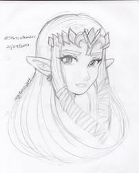 Zelda Tp Sketch by MeguBunnii