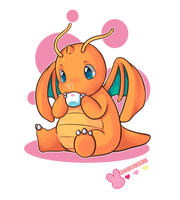 :Dragonite: by MeguBunnii