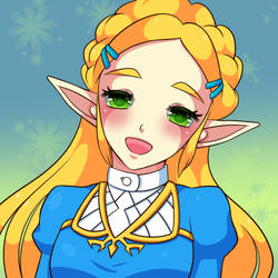 :Collab: Smile Zelda by MeguBunnii