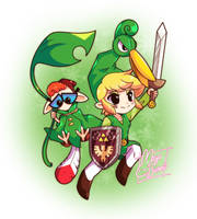 :Comm: Link and Minish Dexter by MeguBunnii