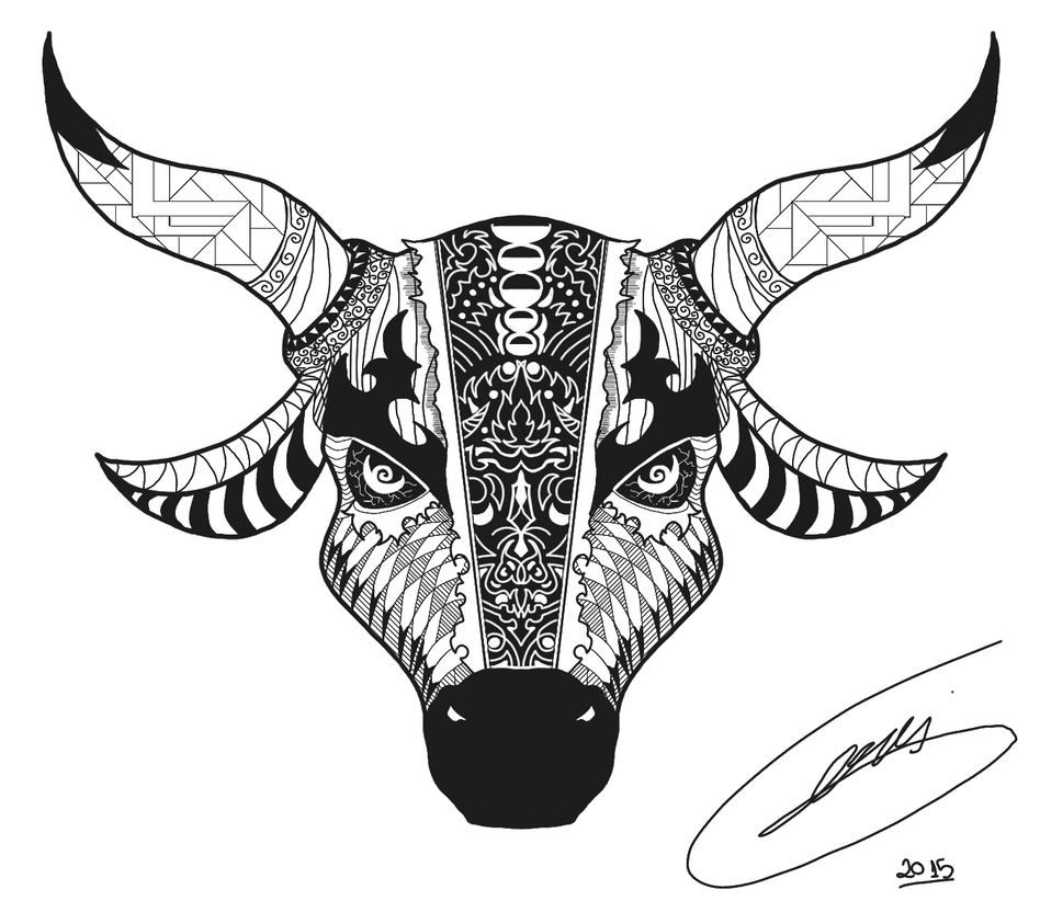 bull tattoo design by stevangois on deviantart. Black Bedroom Furniture Sets. Home Design Ideas