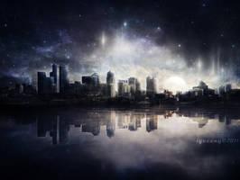 Night Skyline by igreeny