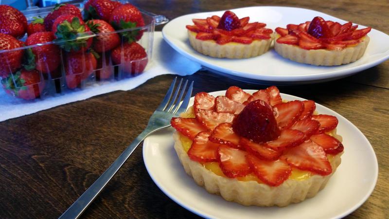 Strawberry Lemon Tartlets by SewAmusing