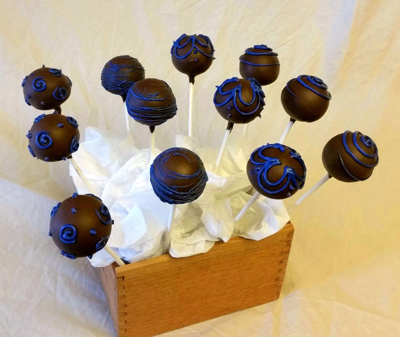 Chocolate mud cake pops by SewAmusing