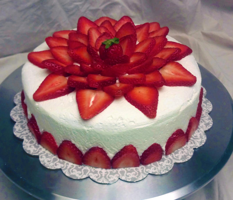 Strawberry whipped cake by SewAmusing