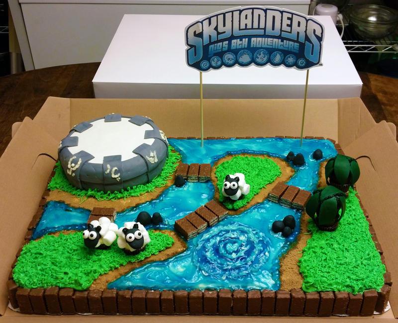 Skylander's Cake front by SewAmusing