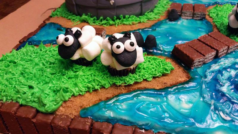 Skylander's Cake sheep by SewAmusing