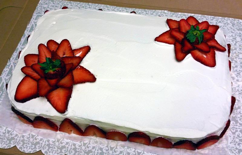 Strawberry flowers cake by SewAmusing