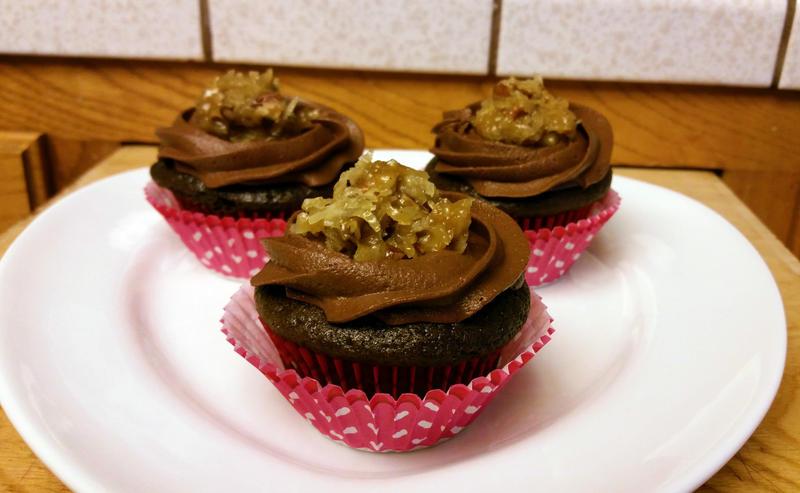 German Chocolate Cupcakes by SewAmusing
