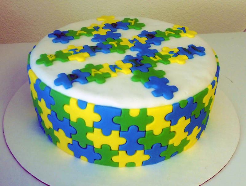 Puzzle cake by RainbowsEndPastries