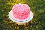 Pink smash cake by EnchantedWhisk