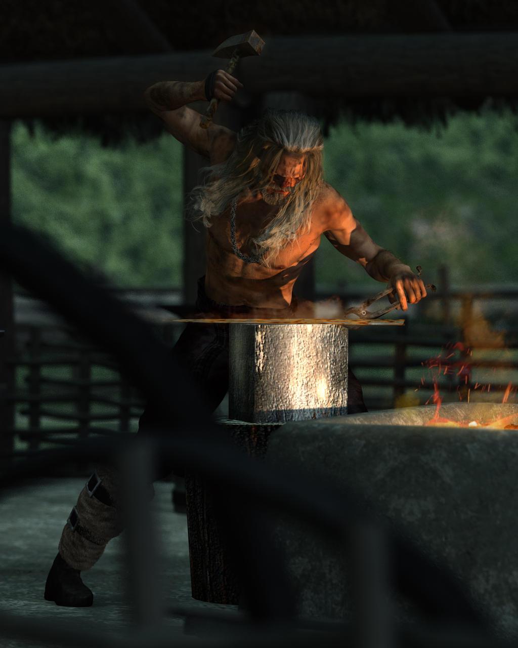Snorri the Blacksmith by warofragnarok