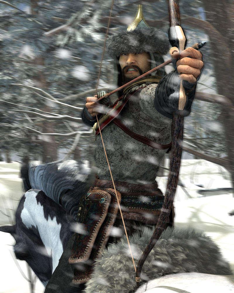 Ganbaatar, the mongolian warrior by warofragnarok