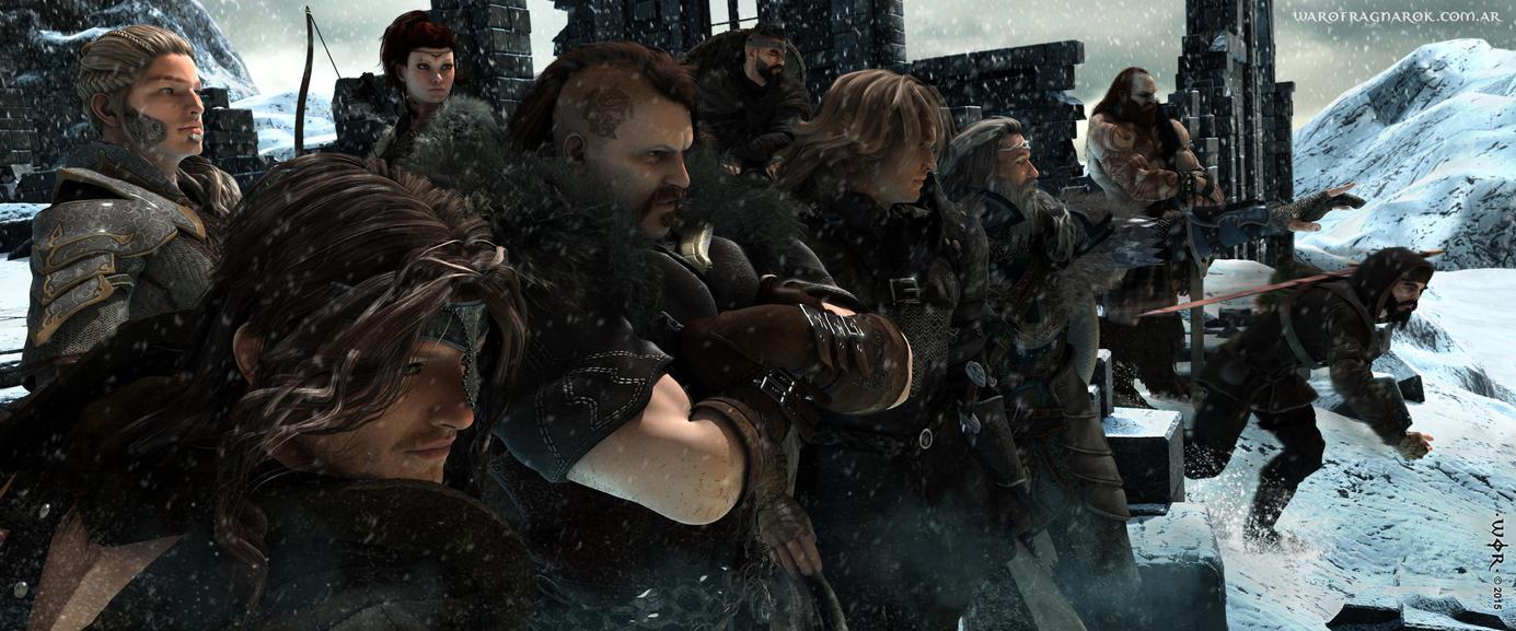 Northern Heroes by warofragnarok
