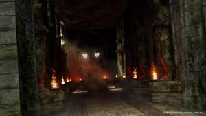 Ancient Corridor by warofragnarok