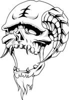 horned skull by T3hSpoon