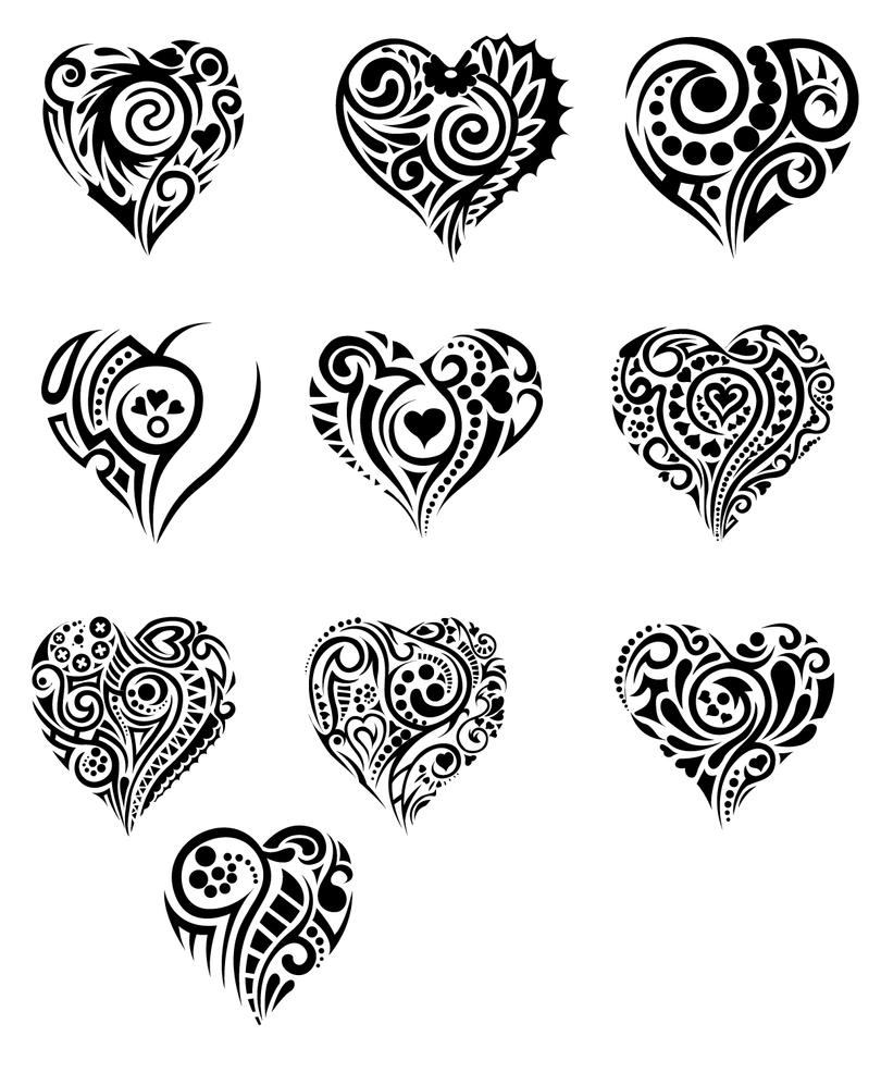 hearts in tribal by T3hSpoon