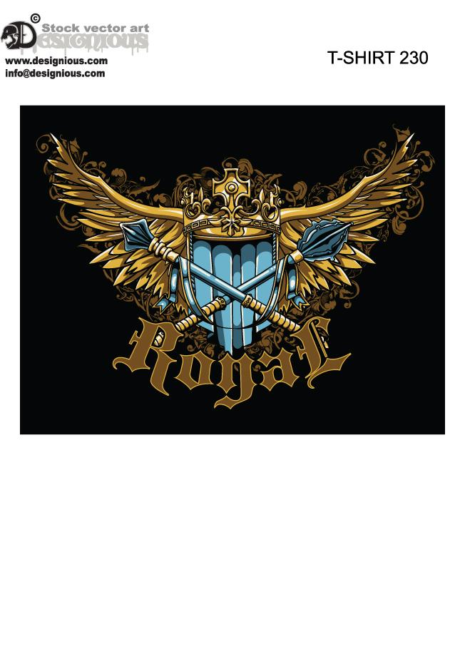 heraldic t-shirt design by T3hSpoon